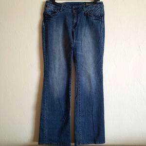 Akademiks jeanius akdmks flare denim blue jeans